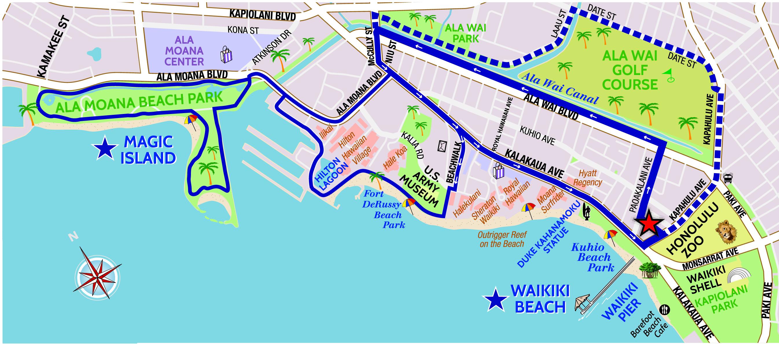 Waikiki Beach Hotels Map The Best Beaches In World